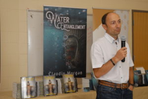 Claudiu Murgan speaks at the book launch